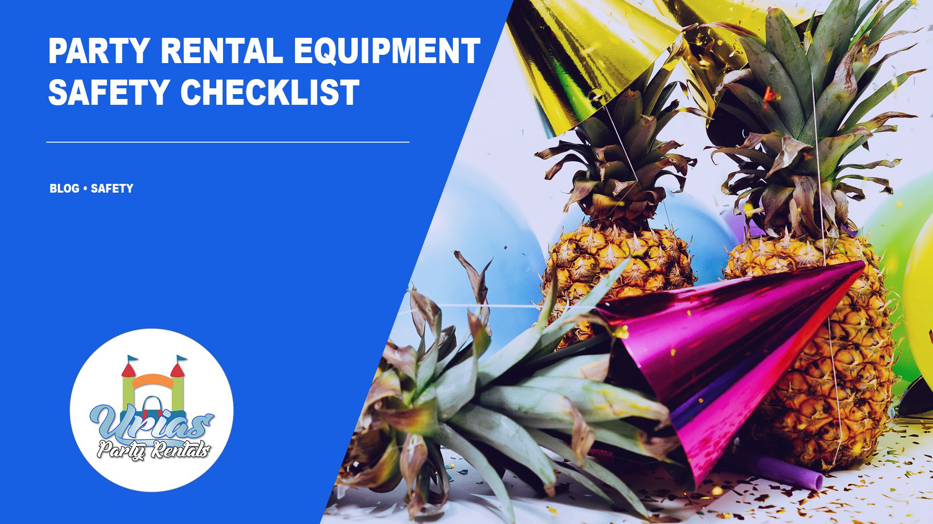 Learn tips for party rental equipment safety