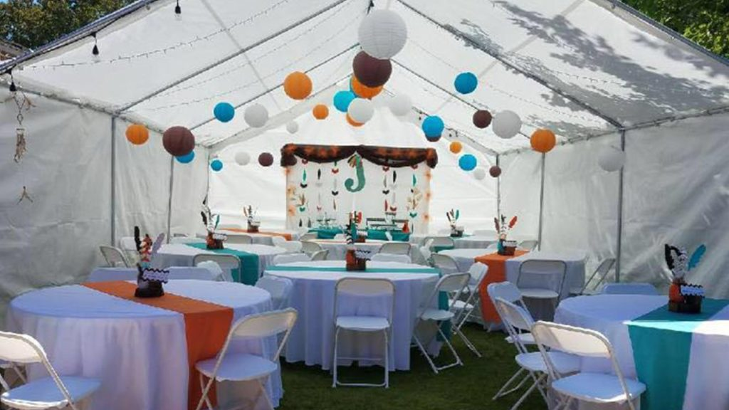 Party Rentals in San Bernardino Tent Setup
