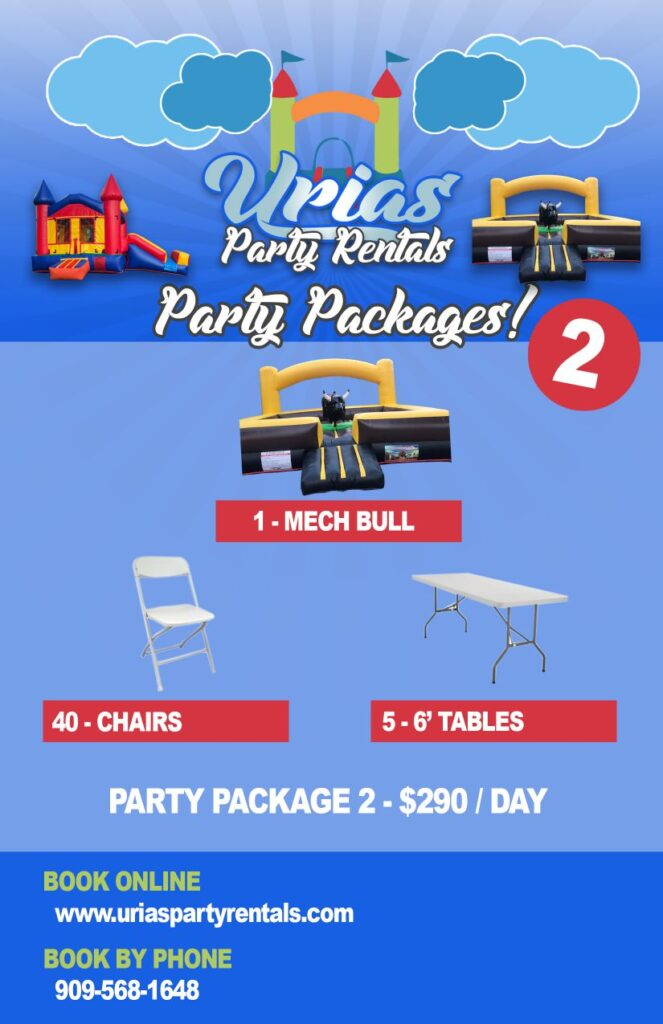 urias party rentals party package 2