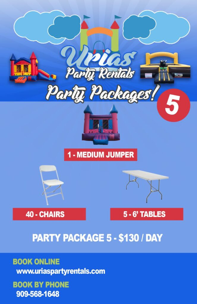urias party rentals party package 5