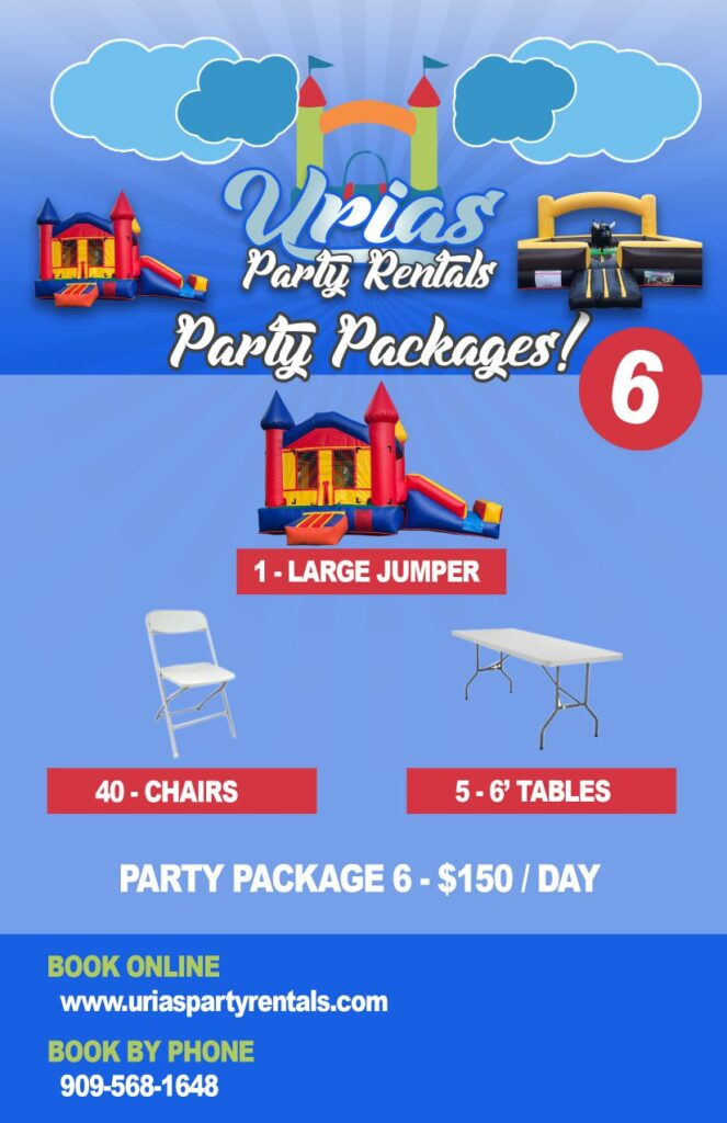 urias party rentals party package 6