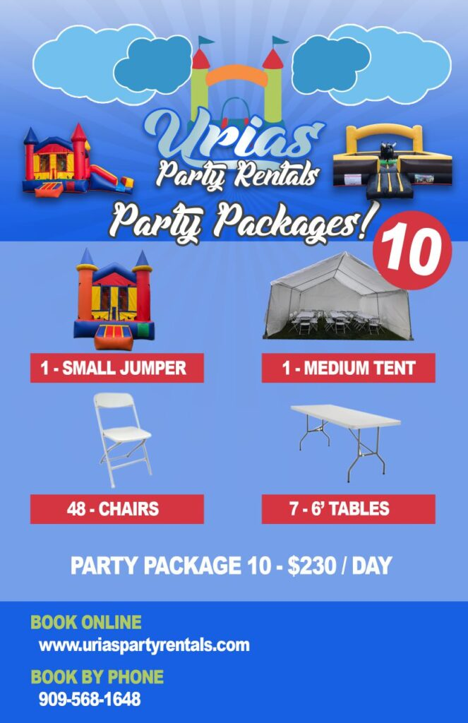 urias party rentals party package 10