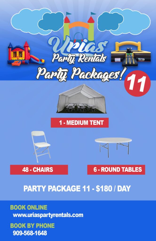 urias party rentals party package 11