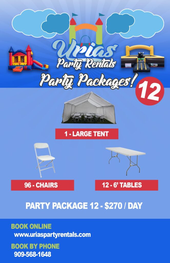urias party rentals party package 12